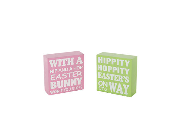 Easter wooden block decoration