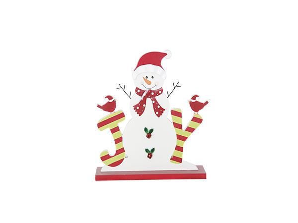 Christmas snowman wooden decoration